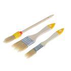 Набор кистей Hobbi, светлая натуральная щетина, деревянная ручка, 3 предмета