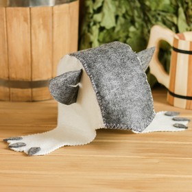 Банная шапка детская «Кошка», войлок, эконом Ош