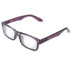 """Очки """"Прямоугольные"""" весёлые, оправа пластик, линза пластик, отгибающаяся дужка на пружинке, цвет МИКС -3"""