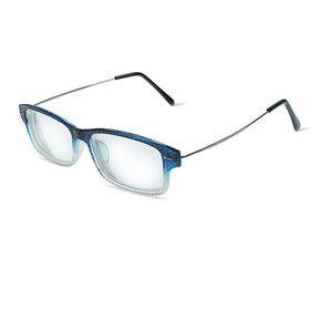 Glasses Rectangular ribbed bezel plastic lens plastic, MIX color -3