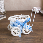 "Basket decorative ""Stroller with bowknot Baby"" MIX 10,5x10,5x7,5 cm"