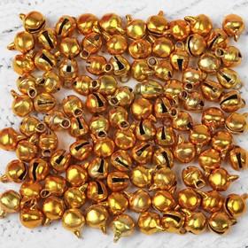 Bells, set of 100 PCs., size 1 PCs 0.6 cm, color Golden