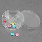 Контейнер для рукоделия, 4 отделения, d=8,2см, цвет прозрачный