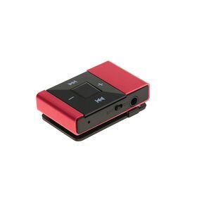 Mp3 плеер с поддержкой карт microSD, клипса, розовый Ош