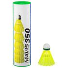 Воланы для бадминтона Yonex Mavis 350 Yellow-Slow, (нейлон/пробка), упаковка 6 шт.