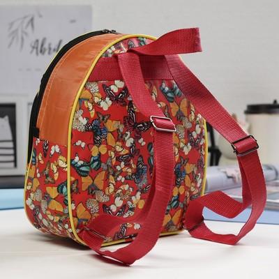 Рюкзак детский РД-6, 23*8*27, отдел на молнии, н/карман, оранжевый