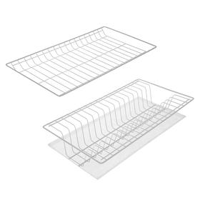Комплект посудосушителей с поддоном для шкафа 50 см, 46,5×26,5 см, цвет белый