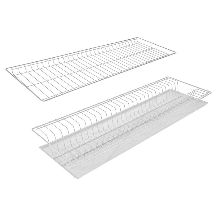 Комплект посудосушителей с поддоном для шкафа 80 см, цвет белый