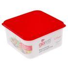 Контейнер для продуктов Vitamino квадратный 1,2 л микс