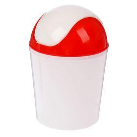 Контейнер для мусора ИскраПласт, 1,5 л, цвет МИКС Ош