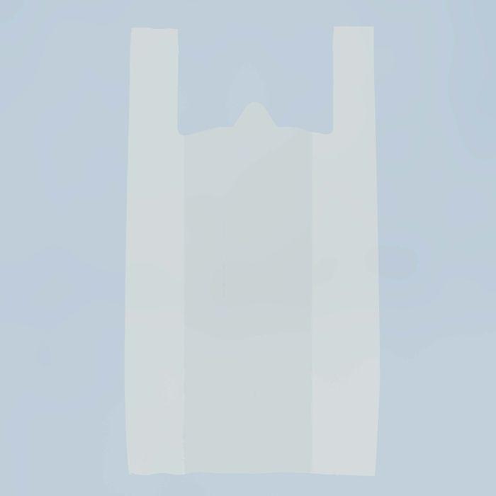 """Пакет """"Белый"""" полиэтиленовый, майка, 45 х 75 см, 15 мкм - фото 308983372"""
