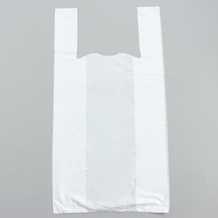 """Пакет """"Белый"""" полиэтиленовый, майка, 38 х 70 см, 13 мкм"""