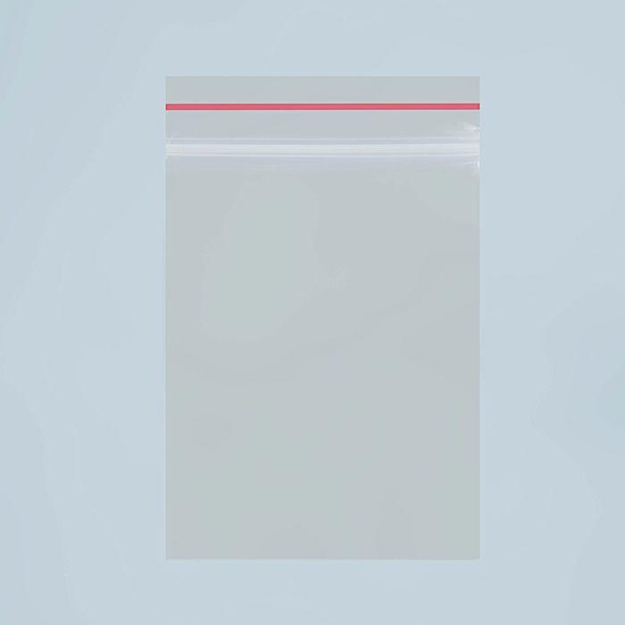 Пакет zip lock 7 х 5 см, 35 мкм (с красной полосой) - фото 308983904