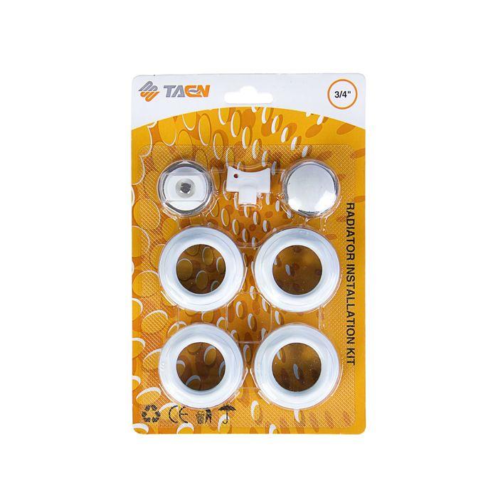 """Комплект для подключения радиатора TAEN, 1""""x3/4"""", без кронштейнов, в блистере"""