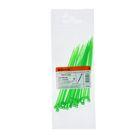 Хомуты нейлоновые TDM, 2.5х100 мм, зеленые, 25 шт, SQ0515-0343