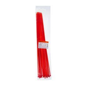 Хомуты нейлоновые TDM, 4.8х400 мм, красные, 25 шт, SQ0515-0356