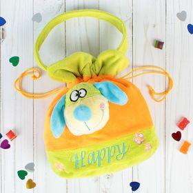 """Soft handbag """"Happy dog"""" blue nose"""