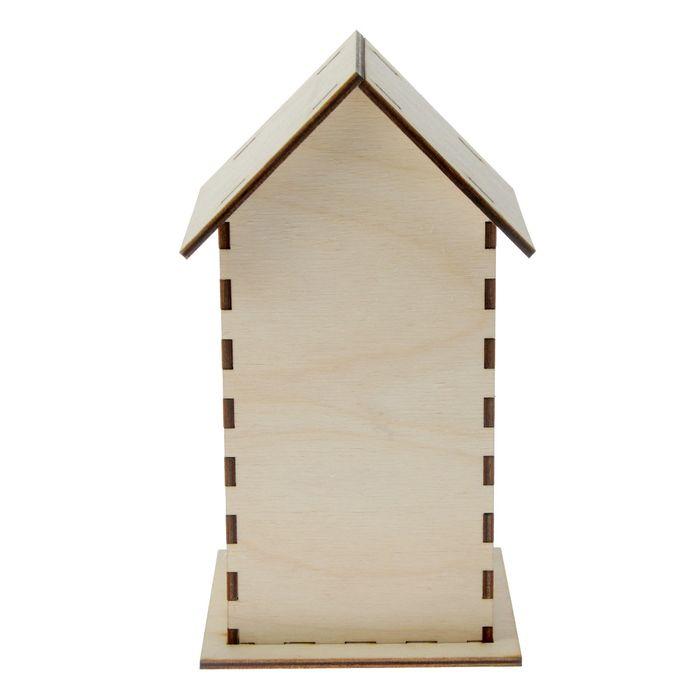 """Чайный домик из фанеры """"С узором"""" (набор 7 деталей) 22х10х0,4 см"""
