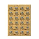 """Наклейки на цветы """"Игривый купидон"""" 24 наклейки на листе А6 (Т36)"""