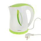 Чайник Magnit RMK-2229, 1.7 л, 2200 Вт, бело-зеленый