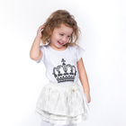 "Girl's t-shirt KAFTAN ""Her Majesty, my daughter"", height 98-104 (30), 3-4 years"