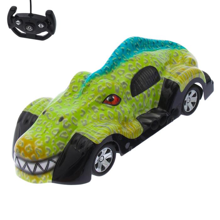 """Машина радиоуправляемая """"Крокодил"""", работает от батареек"""