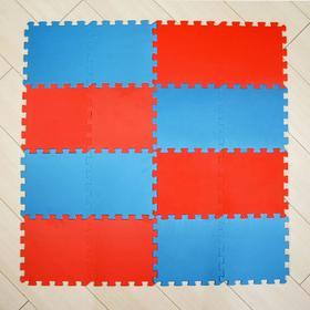 Мягкий пол универсальный, 25 х 25, красно-синий