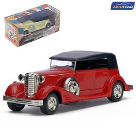 Машина металлическая «Классическая», инерционная, световые и звуковые эффекты, масштаб 1:32, цвета МИКС