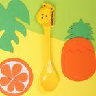 Ложка детская пластиковая «Жирафик» с резиновым элементом, от 5 мес.