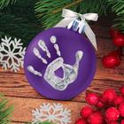 """Новогодний ёлочный шар """"Отпечаток детской ручки"""" фиолетовый"""