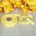 Лента атласная, двусторонняя, 17мм, 25±1м, цвет жёлтый