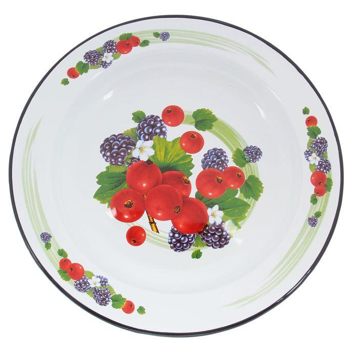"""Блюдо 2 л """"Сочные ягоды"""", цвет белый"""