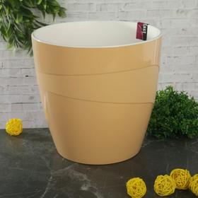 Кашпо со вставкой «Грация», 4,5 л, цвет кремовый