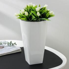 Кашпо «Грейс», d=15 см, цвет белый