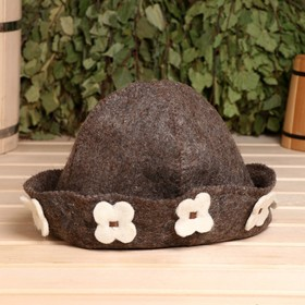 Children bath hat, brown, felt