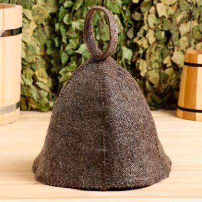 Hat for baths and saunas dark