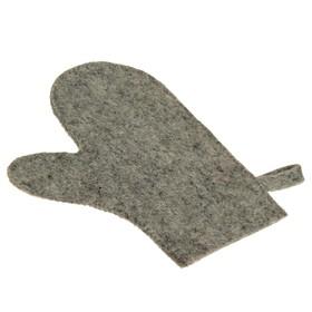 Рукавица для сауны темная - фото 1632252