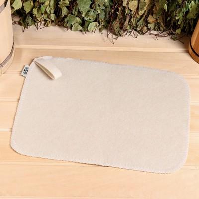 "Pad baths ""Classic"", felt, white, 40x30cm"