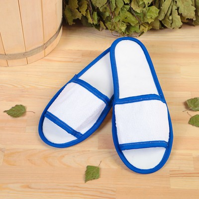 "Slippers for bath and sauna ""Dobromirov"", double, white, mix"