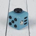 Кубик-антистресс, чёрные кнопки, цвет серый