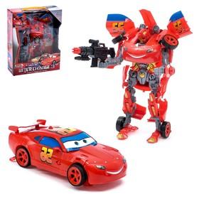 Робот-трансформер «Автобот-тачка» с оружием