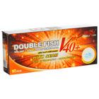 Мячи для настольного тенниса Double Fish 1*, (10 шт/упак.), диаметр 40+