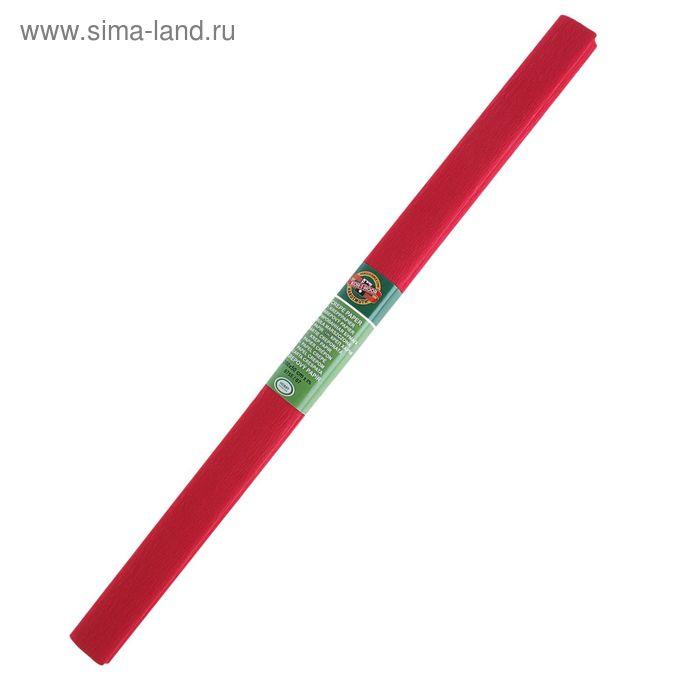 Бумага креповая поделочная гофро 50*200 см Koh-I-Noor красная темная, плотность 32г/м2