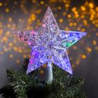 "The figure of ""a Star white Christmas"" 22X22 cm, plastic, 15 LED,2 meter cord,240V MULTI"