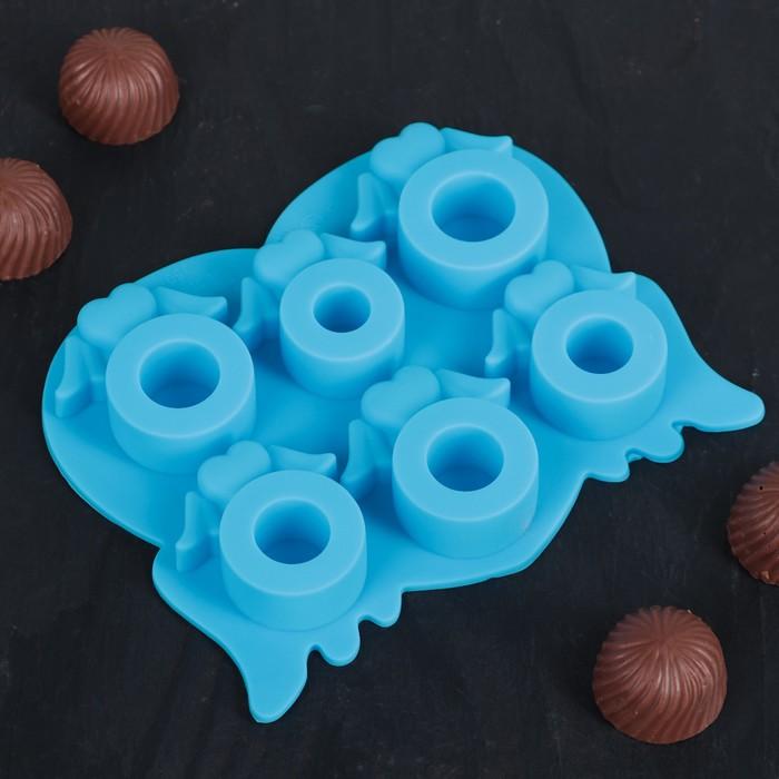 """Форма для льда и шоколада """"Кольца"""", 6 ячеек, цвета МИКС"""