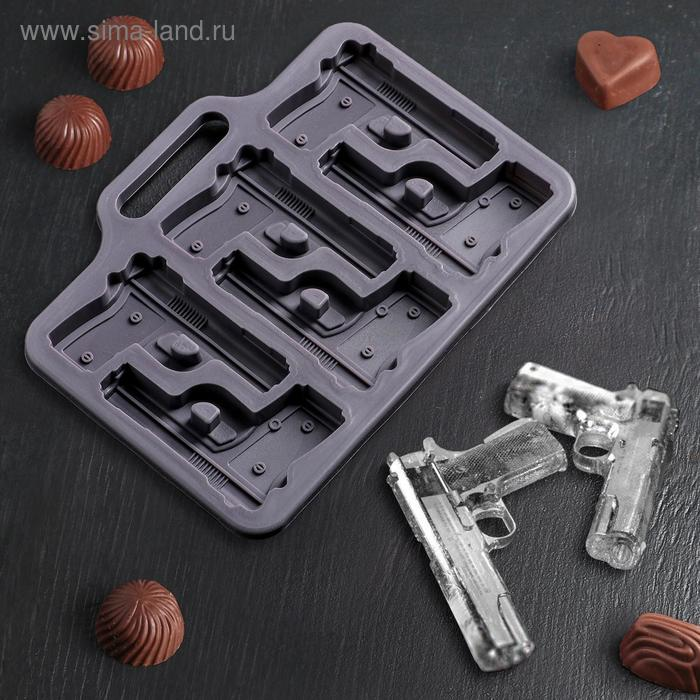 Form for ice and chocolate Gun, 6 cells, MIX color