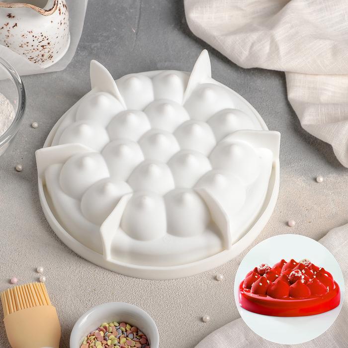 """Форма для муссовых десертов и выпечки 19×5 см """"Паффи"""", цвет белый"""