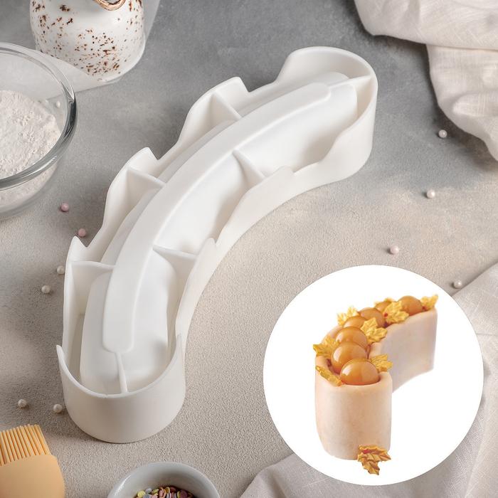 """Форма для муссовых десертов и выпечки 30×8 см """"Звезда арены"""", цвет белый"""