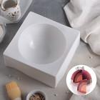 Форма для муссовых десертов и выпечки «Полусфера», 19×8 см, цвет белый - фото 308045664