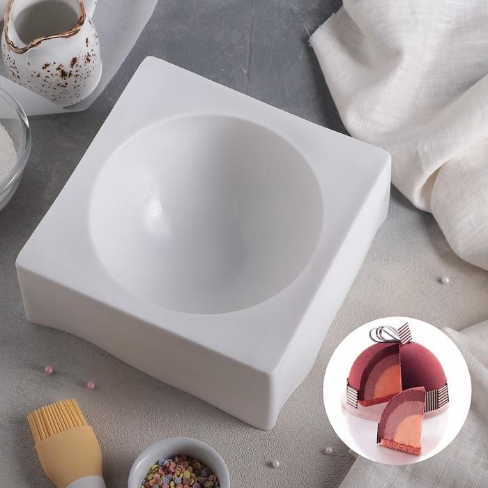Форма для муссовых десертов и выпечки «Полусфера», 19×8 см, цвет белый